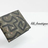 NWT Coach F66581 Men's Billfold Canvas Leather ID Wallet Keith Haring Hula Dance