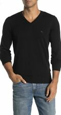 Diesel Brand Mens K-BENTILOGO V Neck Sweater Knit Long Sleeve Black Size XXL NWT