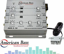 Abx31A American Bass 3-Way Active Crossover Low/High Pass With Remote