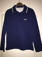 Boys Hugo Boss Long Sleeve Navy Polo Top - Age 10
