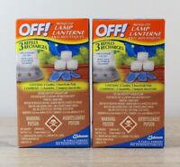 Lot of 2 Boxes OFF! Mosquito Lamp & Lantern Refills PowerPad Lamp Outdoor Use