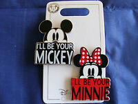 Disney * I'LL BE YOUR MICKEY / I'LL BE YOUR MINNIE * New on Card BW&R 2 Pin Set
