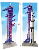 Saturn Rocket Launch tower poster 40 inches tall.