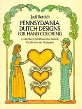 Pennsylvania Dutch Designs for Hand Coloring (Dover Pictorial archive series)