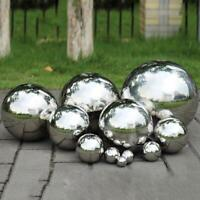 100-280mm Large Stainless Steel Mirror Sphere Hollow Ball Garden Ornament Decor