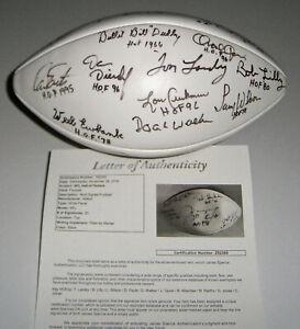HOF signed football Doak Walker Tom Landry Ray Nitschke Taylor JSA LOA 20 AUTOS