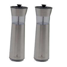 Emeril 2-Pc Cordless Stainless Salt & Pepper Grinder Set Refurbished