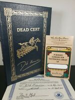 DEAD CERT by Dick Francis Easton Press Signed Luxury First Edition NEAR MINT COA