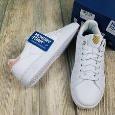 New K-SWISS sz 9M women's white and dusty pink memory foam insole sneakers