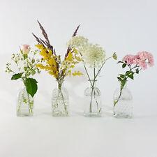 4x Deko Vase Flaschenvase Höhe 13 cm Glasvase Tischdekoration