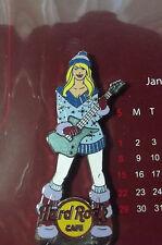 ORIGINAL Hard Rock Cafe 2012 Calendar w/January Girl pin  MINT LE