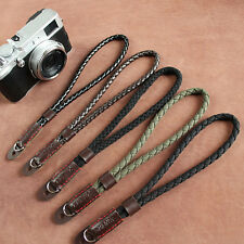 Digital Mirrorless Camera Wrist Hand Strap Soft Cotton Linen Weaved Black Strap