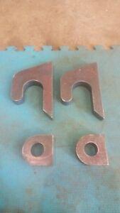 JCB Q-Fit Telehandler Teleporter Brackets. 2 Piece Weld On, 30mm Mild Steel