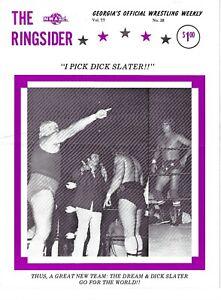 The Ringsider 1977 #38 Georgia Championship Wrestling  Dusty Rhodes, Dick Slater