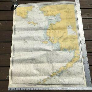 Vintage NOAA Chart 9302 Alaska to Siberia 1973 Sailing Map Bering Sea 40x31
