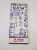 Vintage 1956 Richfield - Los Angeles - Oil Gas Service Station Road Map