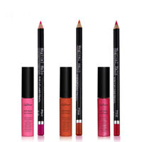 16 Farben Matt Lippenstift wasserdicht Lippen Stift Lip Gloss Make up +Lip Liner