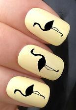 Nail Art Set # 339 X24 Flamingo Silueta Figura transferencias de agua Calcomanías Stickers
