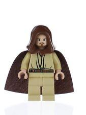 Lego Qui-Gon Jinn 7665 Light Flesh with Black Chin Dimple Star Wars Minifigure