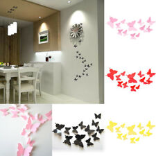 12 pcs Butterfly Wall Stickers 3D Art Decal Home Room Decorations Decor Kids