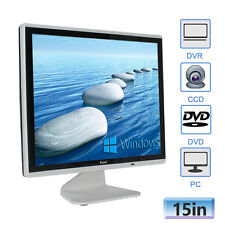 "15"" 1024*768 Color Monitor CCTV DVD LCD Display HD HDMI BNC Video Audio VGA USB"