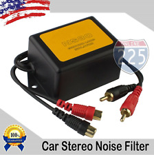 80 Amp Ground Loop Isolator Noise Filter 2-Channel Gold-Plated RCA Connections
