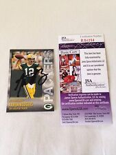 Aaron Rodgers HAND SIGNED ON CARD 2014 Team Police Card JSA CERTIFIED RARE