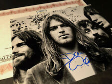 David Gilmour Pink Floyd Hand Signed Authentic Autograph 10x8 Photo & COA