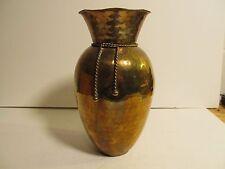 Hammered Brass Vase Pot Urn India