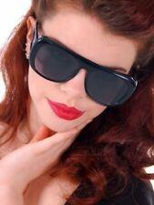 Vintage Sunglasses Fish And Sport Glass Black 1960s Big  Unique