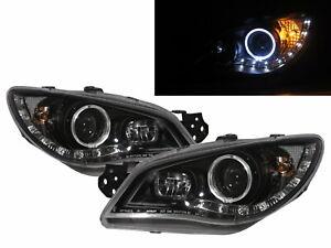 IMPREZA GD GG 2006-2007 FACELIFT Guide LED Halo Headlight Black for SUBARU LHD