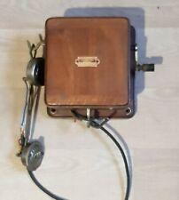 TÉLÉPHONE à Manivelle  Type 1910 COLLECTION Ancien Téléphone Bois