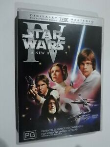 Star Wars IV A New Hope DVD Feat Mark Hamill Carrie Fisher Harrison Ford GOOD