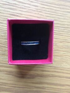 Rosa Monckton Faux Sapphire Band Ring Size S New In Box