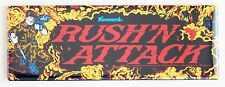Rush 'N' Attack Marquee FRIDGE MAGNET (1.5 x 4.5 inches) arcade video game