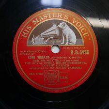 """12"""" 78 tr/min Beniamino Gigli Core 'ngrato/Dicitencello vuje DB 6436"""