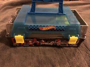 Hot Wheels Toy Car Carry Case Dual Race Launcher
