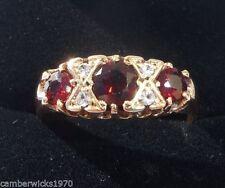9 Carat Garnet Ring Art Deco Fine Jewellery