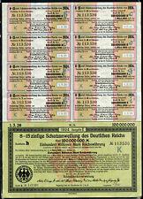 Schatzanweisung des Deutschen Reichs 1924, 100 Millionen Reichsmark mit Coupons