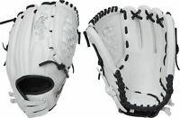"New Rawlings GG Elite 12"" White Fastpitch Softball Glove Black Lacing GGEFP120BW"