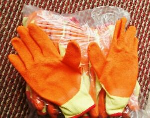 6/12 Pairs Of Builders Protective Gardening DIY Latex Rubber Coated Work Gloves