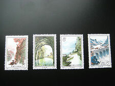 China 1972 PRC Stamp Set A279 Workers on Cliffs Along Canal SC 1104-1107  MNH OG