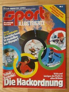 Fußball Woche Nr 2/1984 Sport Illustrierte Poster Kühnhackl und Irene Epple