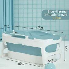 Adulto bañera home sauna cubierta para el Hogar plegable baño cuerpo grande bañera de barril Azul