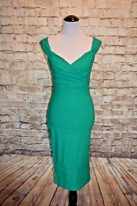 Rock Steady Diva Wiggle Dress Green 1X NWT Pinup Retro Sheath Modcloth Lady Love