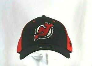 New Jersey Devils NHL Black/Red Baseball Cap Stretch Fix L/XL