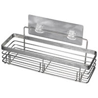 Shower Caddy Basket Shelf with Hooks for Hanging Sponge, No Drilling Adhesi O7H9