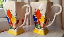 More details for  pair  moorland chelsea pottery dean sherwin crocus design mugs