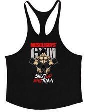 Gimnasio Hombres Camisa Sin Mangas Músculo Culturismo Deporte Fitness Entrenamiento Camiseta sin mangas Chaleco