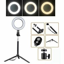 "8"" LED SMD Ring Light Kit Set W/ Stand Dimmable 5500K for Makeup Phone Camera"